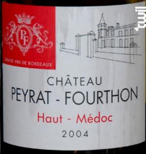 Château Peyrat-Fourthon - Château Peyrat-Fourthon - 2004 - Rouge