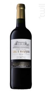 Château Haut Rozier - Château Haut-Rozier - 2016 - Rouge