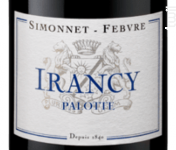 Irancy Palotte - Simonnet Febvre - 2015 - Rouge