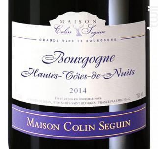 Bourgogne Hautes Côtes de Nuits Terroir - Maison Colin Seguin - 2014 - Rouge