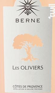 Berne Les Oliviers - Château de Berne - 2017 - Rosé