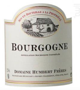 Bourgogne Pinot Noir - Domaine Humbert Frères - 2017 - Rouge