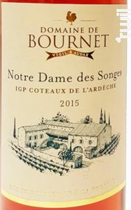 Notre Dame des Songes - Domaine de Bournet  IGP Ardèche - 2018 - Rosé