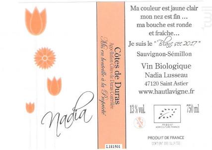 Nadia - Château Haut Lavigne - 2017 - Blanc