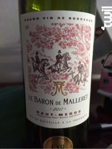 Le Baron de Malleret - Château de Malleret - 2014 - Rouge