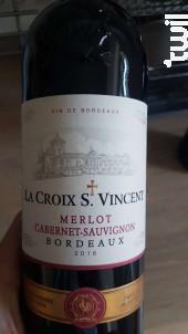 La Croix Saint Vincent - Producta Vignobles - 2016 - Rouge