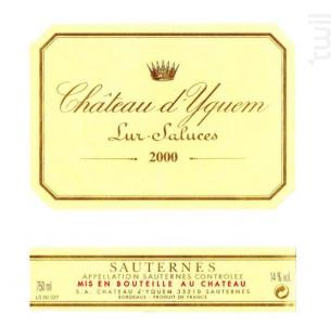 Château d'Yquem - Château d'Yquem - 2000 - Blanc