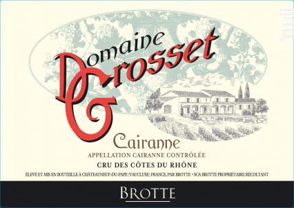 Domaine Grosset - Maison Brotte • Les Domaines - 2018 - Rouge