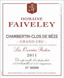 Les Ouvrees Rodin - Domaine Faiveley - 2011 - Rouge