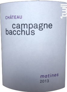 Matines - Château Campagne Bacchus - 2014 - Rouge