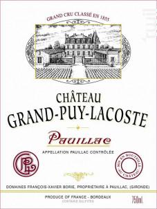 Château Grand-Puy-Lacoste - Château Grand-Puy-Lacoste - 2012 - Rouge