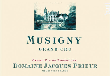 Musigny grand Cru - Domaine Jacques Prieur - 2015 - Rouge