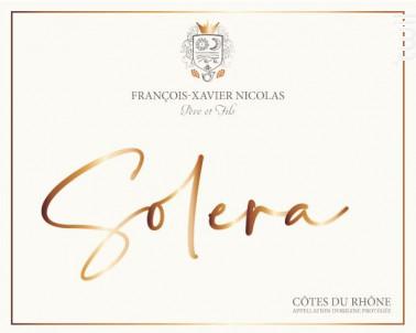 Solera - Maison François-Xavier Nicolas - Non millésimé - Rouge