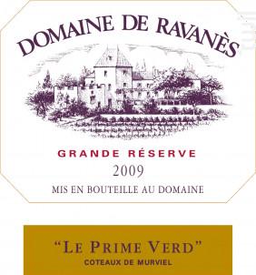 Le Prime Verd - Domaine de Ravanès - 2009 - Rouge