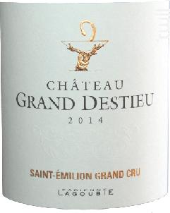 Château Grand Destieu - Château Grand Destieu - 2014 - Rouge