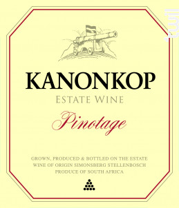Pinotage - KANONKOP - 2017 - Rouge