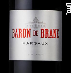 Baron de Brane - Château Brane Cantenac - 2016 - Rouge