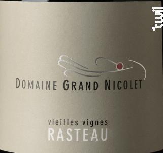 Rasteau Vieilles Vignes - Domaine Grand Nicolet - 2016 - Rouge