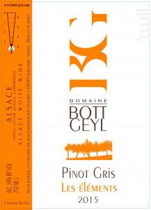 PInot Gris Les Eléments - Domaine BOTT GEYL - 2017 - Blanc