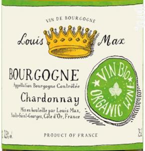 BOURGOGNE CHARDONNAY BIO - Louis Max - 2015 - Blanc