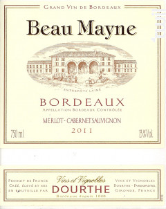 Beau Mayne - Dourthe- Chateau Beau Mayne - 2016 - Rouge