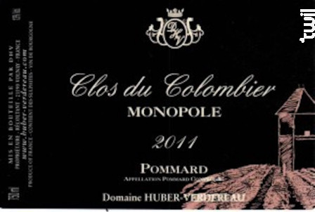 Pommard Clos du Colombier Monopole - Domaine Huber-Verdereau - 2011 - Rouge