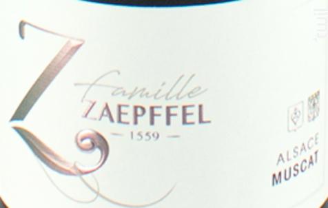 Muscat - Famille Zaepffel - 2018 - Blanc