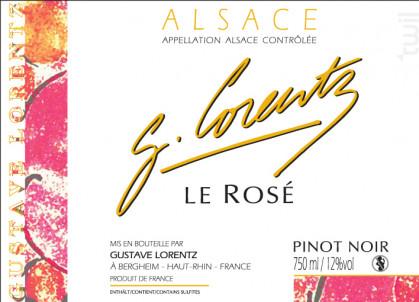 PINOT NOIR ROSé - Gustave Lorentz - 2018 - Rosé
