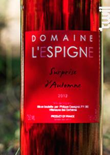 Surprise d'Automne - Château L'Espigne - 2012 - Rosé