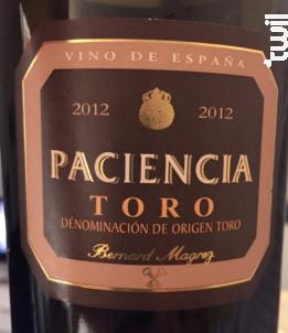 Paciencia Toro - Bernard Magrez - 2014 - Rouge