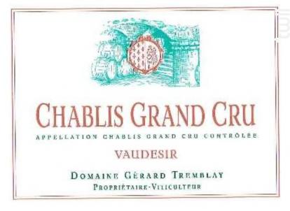 Chablis Grand Cru Vaudésir - Domaine Gérard Tremblay - 2015 - Blanc