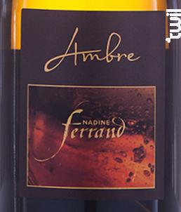 Bourgogne Cuvée Ambre Vendange d'automne - Domaine Nadine Ferrand - 2018 - Blanc