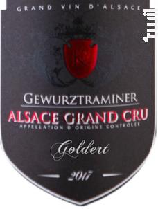 Gewurztraminer Grand Cru Goldert - Michel Kurtz - 2017 - Blanc