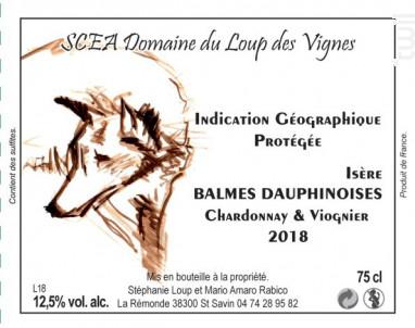 vin blanc chardonnay viognier - Domaine du Loup des Vignes - 2018 - Blanc