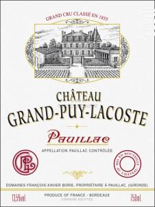 Château Grand-Puy-Lacoste - Château Grand-Puy-Lacoste - 2005 - Rouge