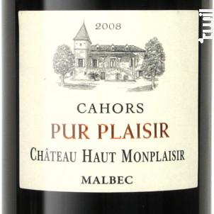 Pur Plaisir - Château Haut Monplaisir - 2014 - Rouge