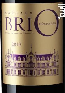 Brio de Cantenac Brown - Château Cantenac Brown - 2010 - Rouge