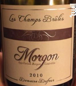 MORGON « Les Champs Brulés » - Domaine Dufour Pere et Fils - 2015 - Rouge