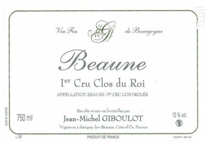 Beaune Premier Cru Clos du Roi - Domaine Giboulot Jean-Michel - 2015 - Rouge