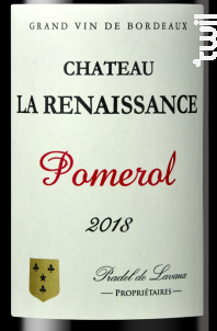 Château la Renaissance - Château la Renaissance - 2018 - Rouge