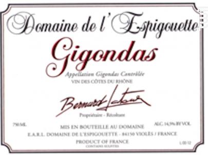 Gigondas - Domaine De L'Espigouette - 2015 - Rouge