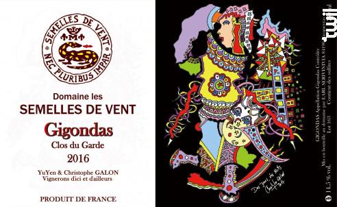 Gigondas - DOMAINE LES SEMELLES DE VENT - 2016 - Rouge