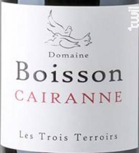 Les Trois Terroirs - Domaine Boisson - 2015 - Rouge