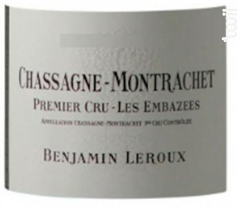 Chassagne-Montrachet Premier Cru Les Embazées - Benjamin Leroux - 2011 - Blanc