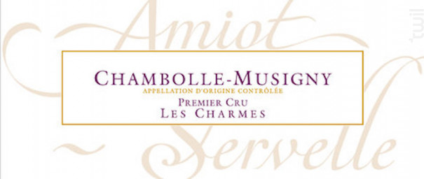 Chambolle-Musigny Premier Cru Les Charmes - Domaine Amiot-Servelle - 2013 - Rouge
