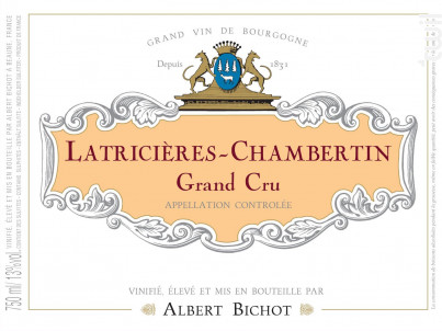 Latricières-Chambertin Grand Cru - Albert Bichot - 2016 - Rouge