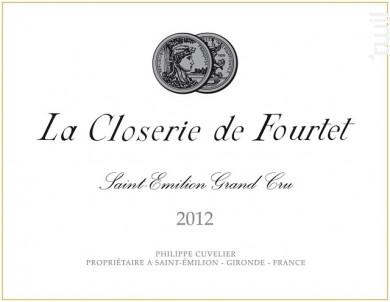 La Closerie de Fourtet - Clos Fourtet - 2012 - Rouge