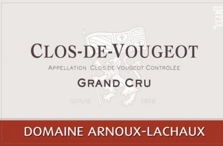Clos de Vougeot Grand Cru - Domaine Arnoux-Lachaux - 2011 - Rouge