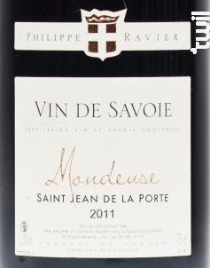Mondeuse - Saint Jean de la Porte - Domaine RAVIER Philippe - 2017 - Rouge