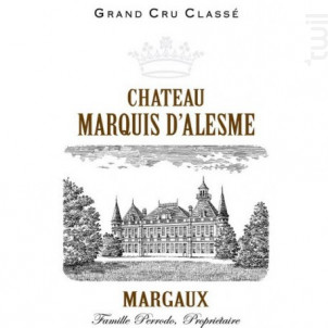 Château Marquis d'Alesme - Château Marquis d'Alesme - 2015 - Rouge